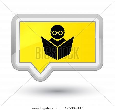 Elearning Icon Prime Yellow Banner Button