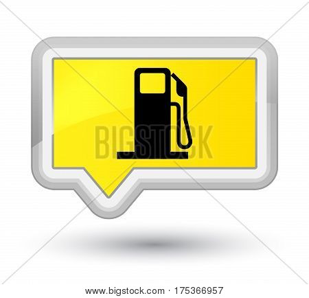 Fuel Dispenser Icon Prime Yellow Banner Button