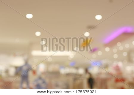 Blurred shopping mall or indistinct department store for the design background.