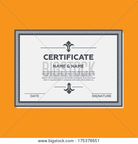 Certificate vector illustration. Certificate mock up vector