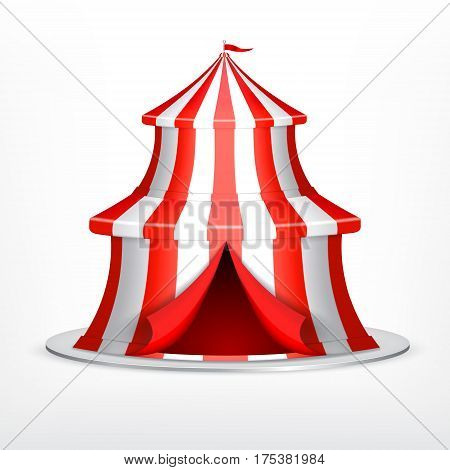 Circus concept. Circus tent on white background. EPS10 vector