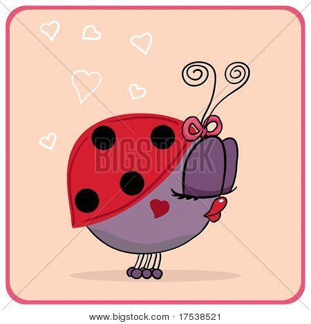ladybug with kissy lips