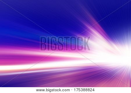 Abstract image of light trails on the road at night.