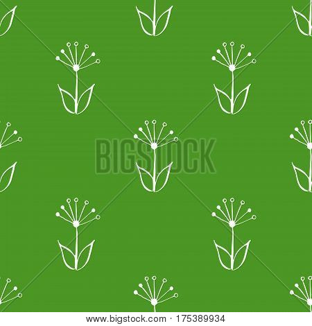 Seamless hand drawn, doodle, floral vector pattern for background, backdrop. Scandinavian, ethnic style for wrapping, textile, print. Flowers and plants illustration eps 10