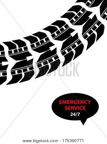 emergency service background, vector illustration, eps10 design