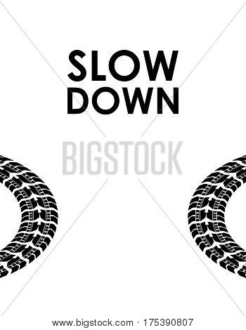 slow down transportation background, vector illustration, eps10
