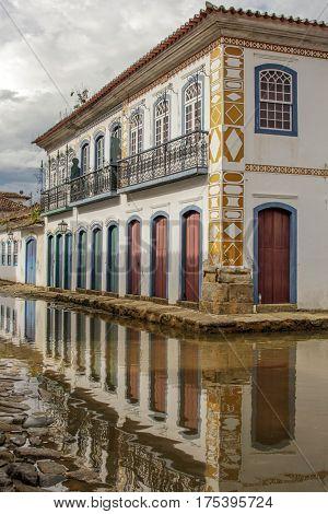Paraty Historical Building In Rio De Janeiro Brazil