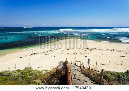 The main beach at Margaret River in the south west of Western Australia, Australia.
