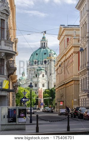 VIENNA, AUSTRIA - JUNE 8, 2012: Hofburg Imperial palace. Former imperial palace in the centre of Vienna, Austria. Built in the 13th century