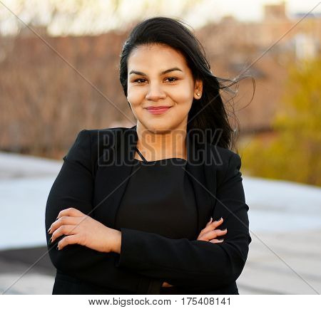 Confident Latina Businesswoman