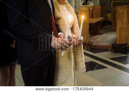 Stylish Luxury Bride And Elegant Groom, Making Oaths, Emotional Traditional  Wedding Ceremony