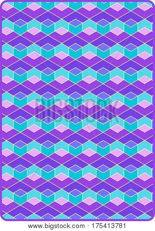 Abstract sixties op art pattern page, for card back or background