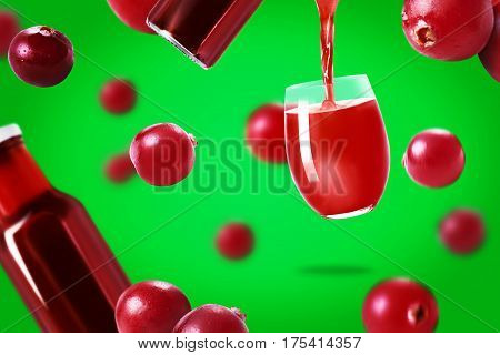 Cranberries Juice  And Cranberries
