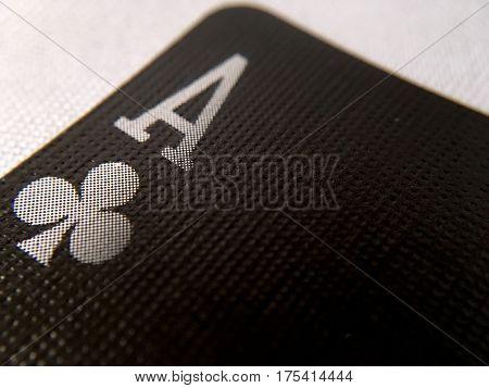 Close Up / Macro - Black Playing Cards