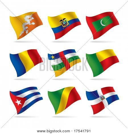 Vector set of world flags 7