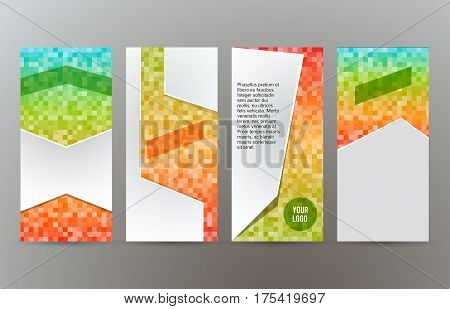 Set Templates Vertical Flyer Layout Glow Effect03