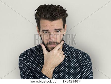 Caucasian Casual Shoot Cool Pose