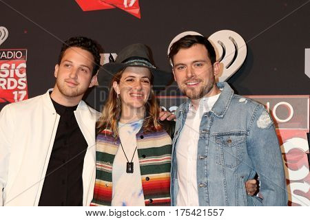 LOS ANGELES - MAR 5:  Pete Nappi, Samantha Ronson, Ethan Thompson, Ocean Park Standoff at the 2017 iHeart Music Awards at Forum on March 5, 2017 in Los Angeles, CA