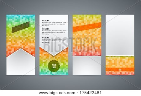Set Templates Vertical Flyer Layout Glow Effect01