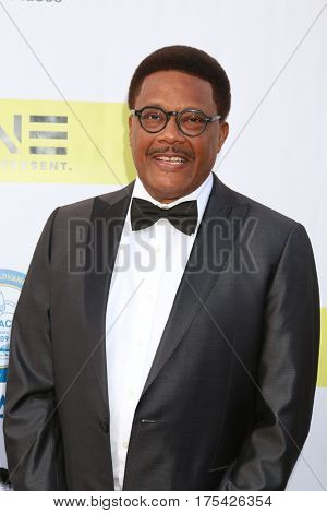LOS ANGELES - FEB 11:  Greg Mathis at the 48th NAACP Image Awards Arrivals at Pasadena Conference Center on February 11, 2017 in Pasadena, CA
