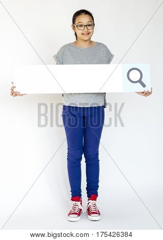 Adult People Holding Searching Box Magnifying Glass