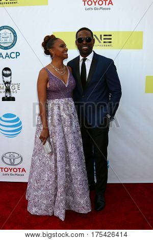 LOS ANGELES - FEB 11:  Ryan Michelle Bathe, Sterling K. Brown at the 48th NAACP Image Awards Arrivals at Pasadena Conference Center on February 11, 2017 in Pasadena, CA