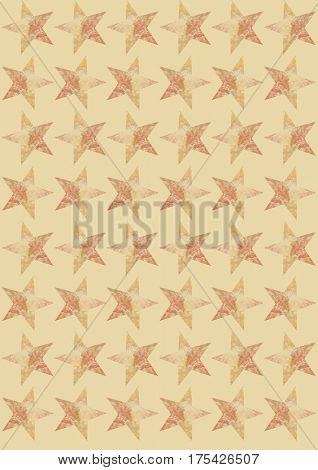 stars on beige background