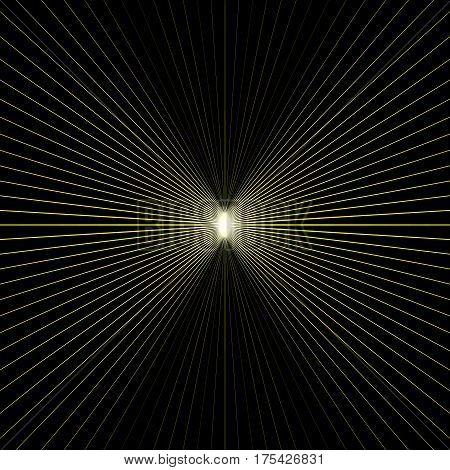 Light At End Of Tunnel. Vector Illustration. Backdrop