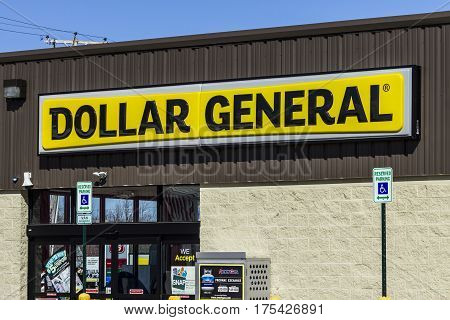 Muncie - Circa March 2017: Dollar General Retail Location. Dollar General is a Small-Box Discount Retailer VI