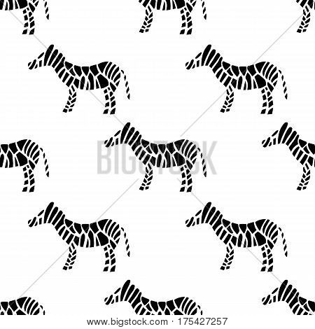 Zebra Striped Seamless Surface Pattern. Vector Illustration
