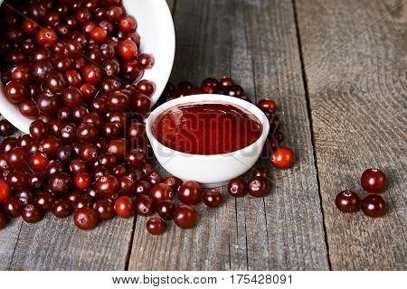 Cranberry Sauce And Scattered Berries