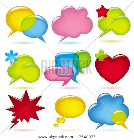 Vector image of speak bubbles