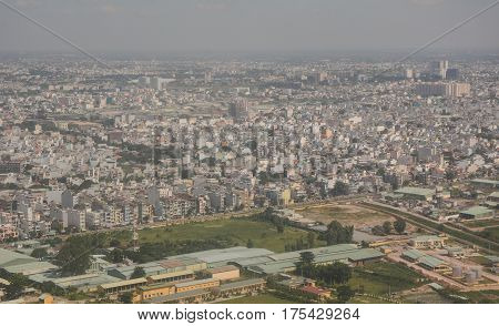 Aerial View Of Saigon, Vietnam