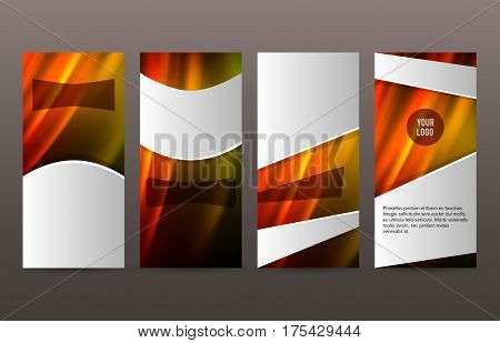 Set Templates Vertical Flyer Layout Hot Glow Effect01