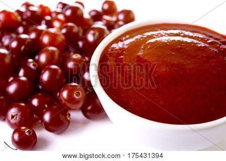 Bowl With Cranberry Sauce