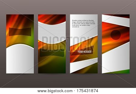 Set Templates Vertical Flyer Layout Hot Glow Effect04