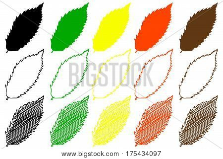 chestnut leaf - color set , chestnut leaf