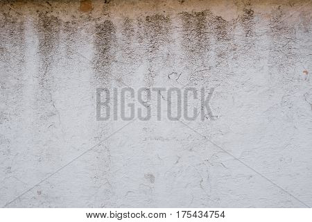 the background of the wall which is old and covered in stains and dirt