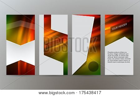 Set Templates Vertical Flyer Layout Hot Glow Effect05
