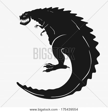 Vector Illustration of a dinosaur monster eps 8 file format