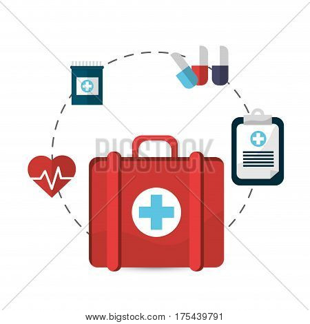hospital suitcase tools icon image, vector illustration design