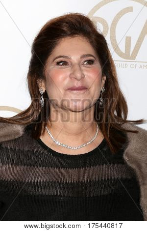 LOS ANGELES - JAN 28:  Amy Pascal at the 2017 Producers Guild Awards  at Beverly Hilton Hotel on January 28, 2017 in Beverly Hills, CA