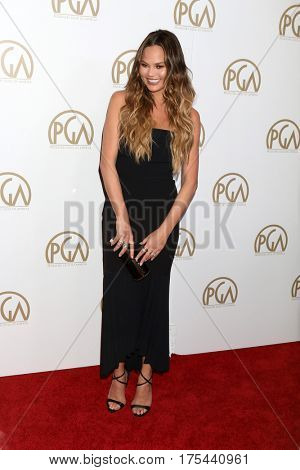LOS ANGELES - JAN 28:  Chrissy Teigen at the 2017 Producers Guild Awards  at Beverly Hilton Hotel on January 28, 2017 in Beverly Hills, CA