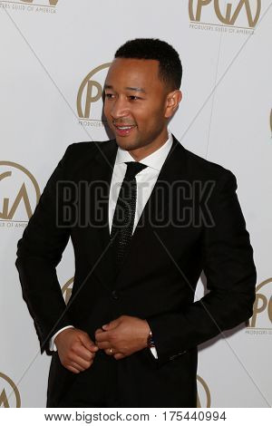 LOS ANGELES - JAN 28:  John Legend at the 2017 Producers Guild Awards  at Beverly Hilton Hotel on January 28, 2017 in Beverly Hills, CA