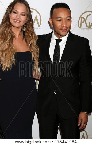 LOS ANGELES - JAN 28:  Chrissy Teigen, John Legend at the 2017 Producers Guild Awards  at Beverly Hilton Hotel on January 28, 2017 in Beverly Hills, CA