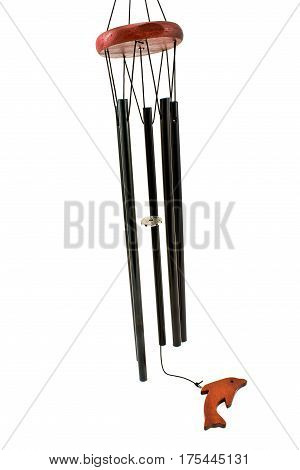 Wind chimes isolated on a white background