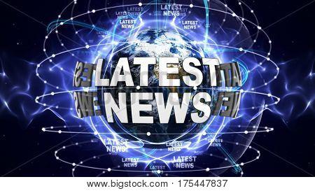LATEST NEWS Text Around the World, Computer Graphics