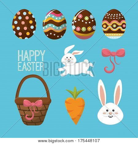 happy easter day icon image, vector illustration design