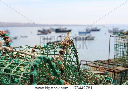 Fisherman Net, Sea, Portugal, Job, Atlantic Ocean