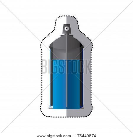 sticker colorful internal view aerosol spray bottle can vector illustration